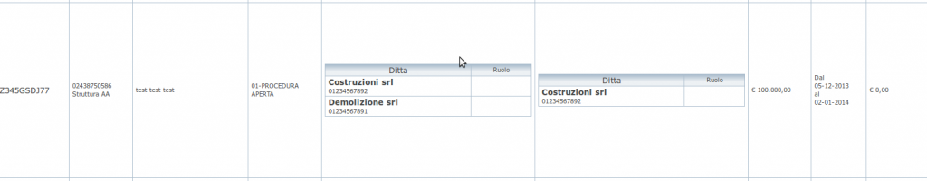 struttura tabella comma32